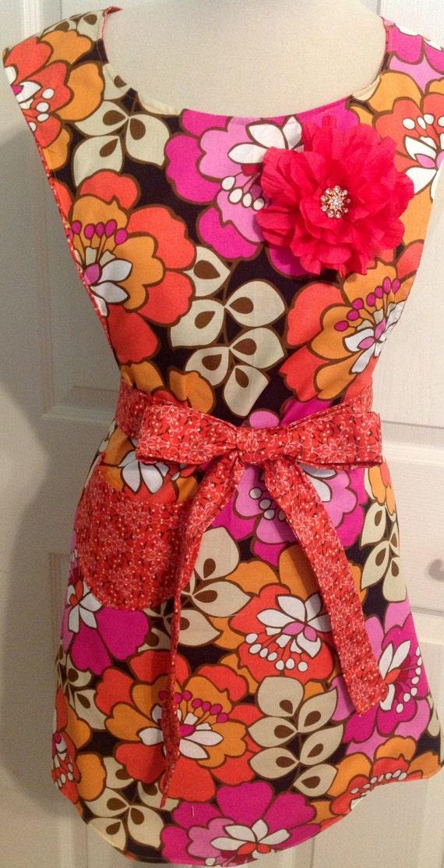 B E A utiful orange and pink apron