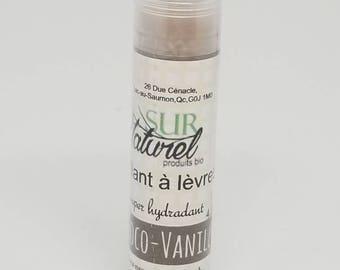 Choco-vanilla chocolate colored lip balm gloss
