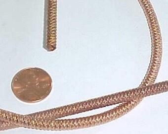 """1 Vintage Copper Coated Spring 5mm. Round Flex Bendable Coil 27"""" Section L786"""