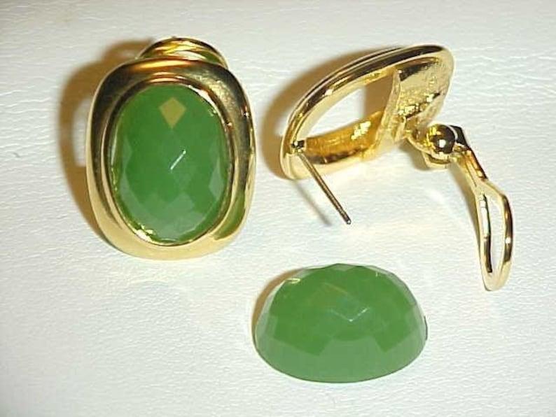 Vintage Joan Rivers Opaque Oval 5 Color Pierced Earring Set New In Box J67