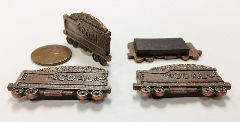 Vintage Genuine Solid Copper Locomotive Train Coal Car 1.5 Magnet S46