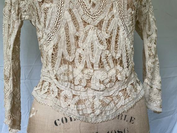 Antique Lace Blouse / Victorian Lace Blouse / 190… - image 6