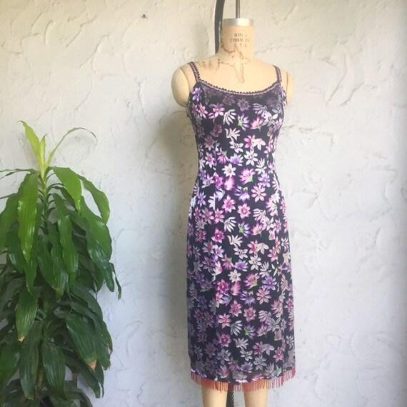 90s Betsey Johnson Floral Slip Dress / Vintage Y2… - image 5