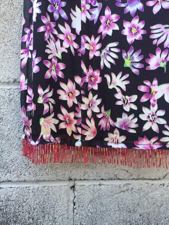 90s Betsey Johnson Floral Slip Dress / Vintage Y2… - image 3