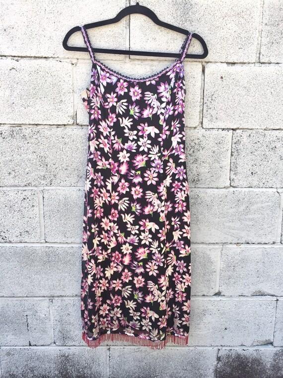 90s Betsey Johnson Floral Slip Dress / Vintage Y2… - image 2
