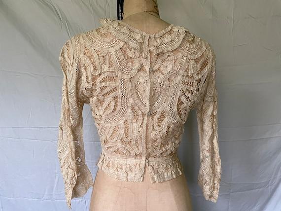 Antique Lace Blouse / Victorian Lace Blouse / 190… - image 8