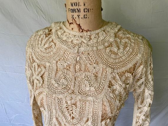 Antique Lace Blouse / Victorian Lace Blouse / 190… - image 2