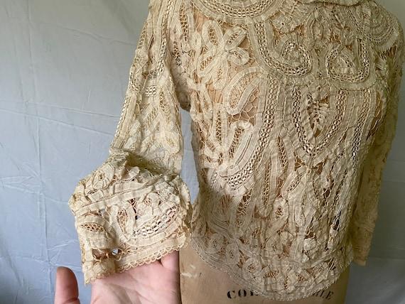 Antique Lace Blouse / Victorian Lace Blouse / 190… - image 7