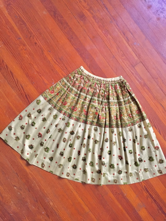 1950s Pleated Skirt by Nelly de Grab / Vintage Cot