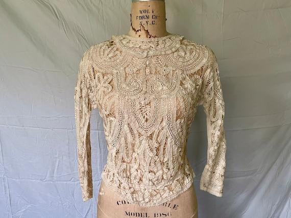 Antique Lace Blouse / Victorian Lace Blouse / 190… - image 1