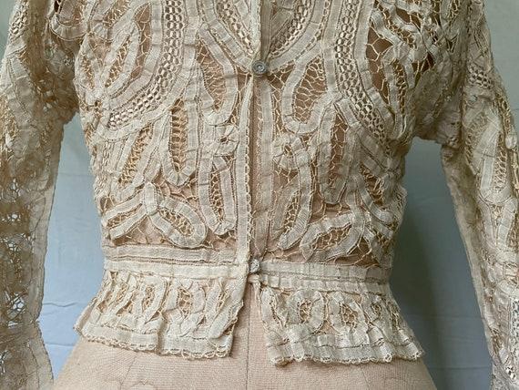 Antique Lace Blouse / Victorian Lace Blouse / 190… - image 10