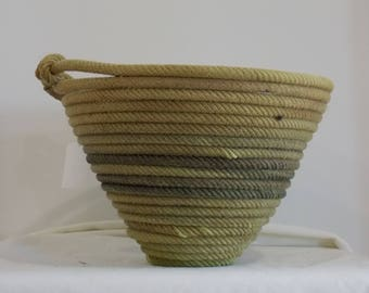 Green Lariat Basket
