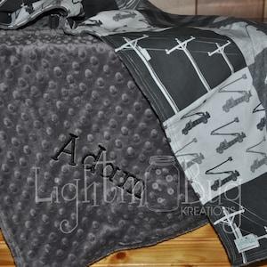 Lineman baby toddler quilt