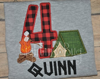 Camping Tent Birthday Personalized Shirt