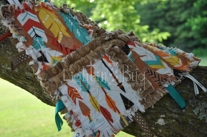 Feathers  Arrows Tag Rag Blanket