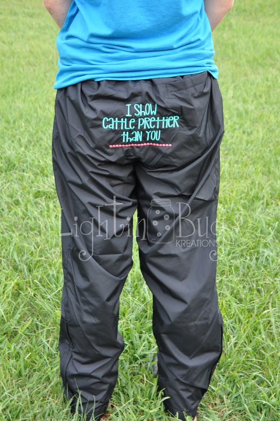 Stock Show Grooming/Fitting Pants 5CoP17AUt