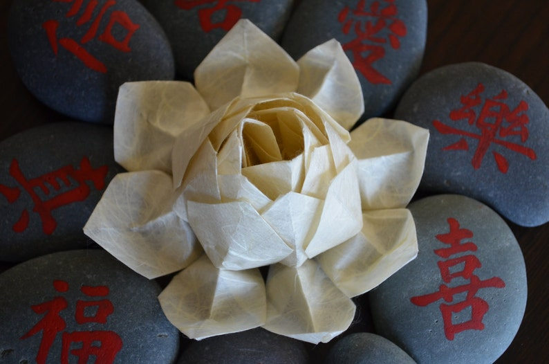 Pdf Instructions Origami Lotus Flower Etsy
