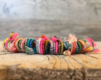 20 Handmade Fabric Textile Beads - Hippie Boho Beads - Fiber Art Beads - Textile Art Beads - Handmade Beads - Unique beads - Jewelry making
