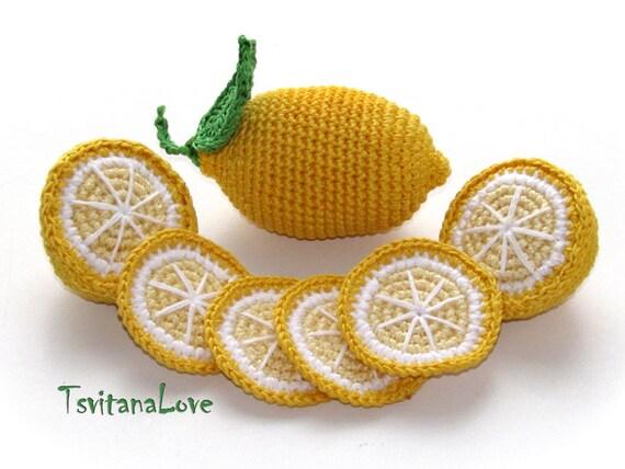 Häkeln Obst Zitronenscheiben 6 Stück Spiel Essen Küche Etsy
