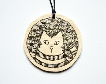"Pendant ""Striped Cat"""