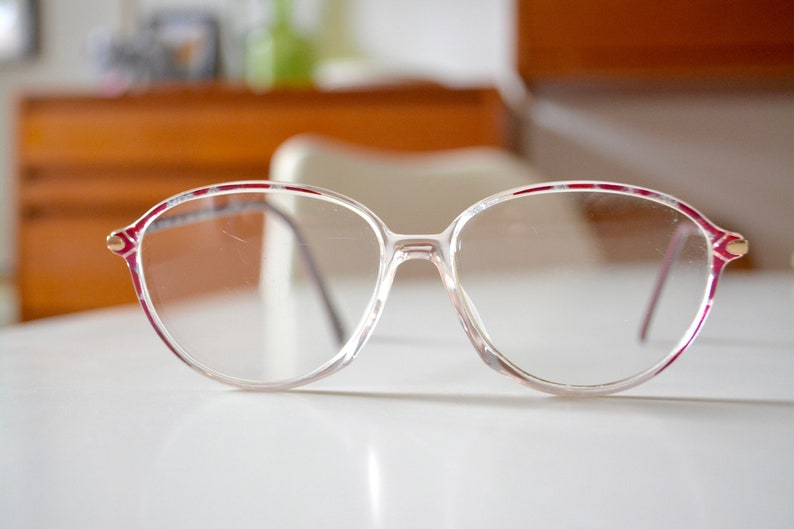 d87bd9c30b29 Vintage Silhouette Made in Austria 80s Eyeglasses Women Red