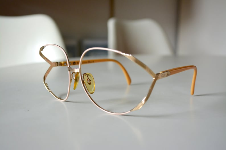 e7f0f1857ead Vintage Christian Dior Pink Gold Butterfly Optyl 2250 Austria.