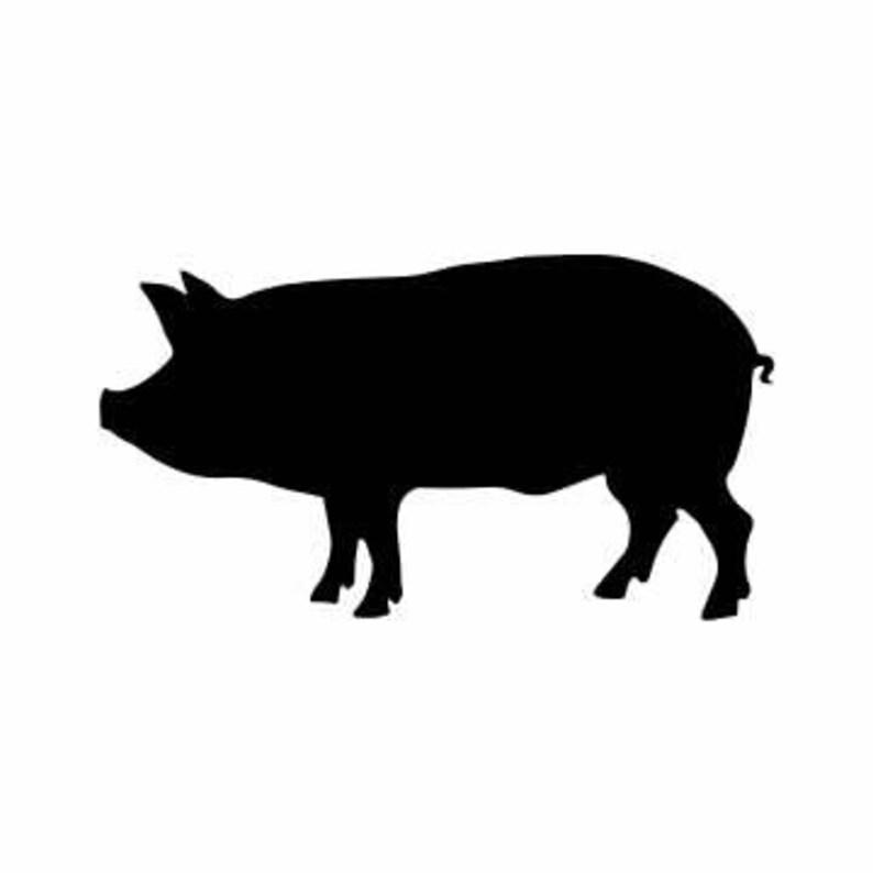 Farm Pig Decal Pig Decal Farm Pig Vinyl Decal Farm Pig Etsy