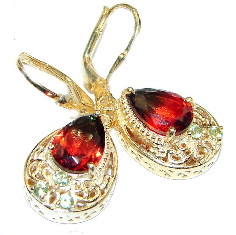 W T 1 2 dim L- 1 1 4 Peridot Sterling Silver Earrings 3 8 inch code 6-paz-20-94 weight 6.30g Topaz