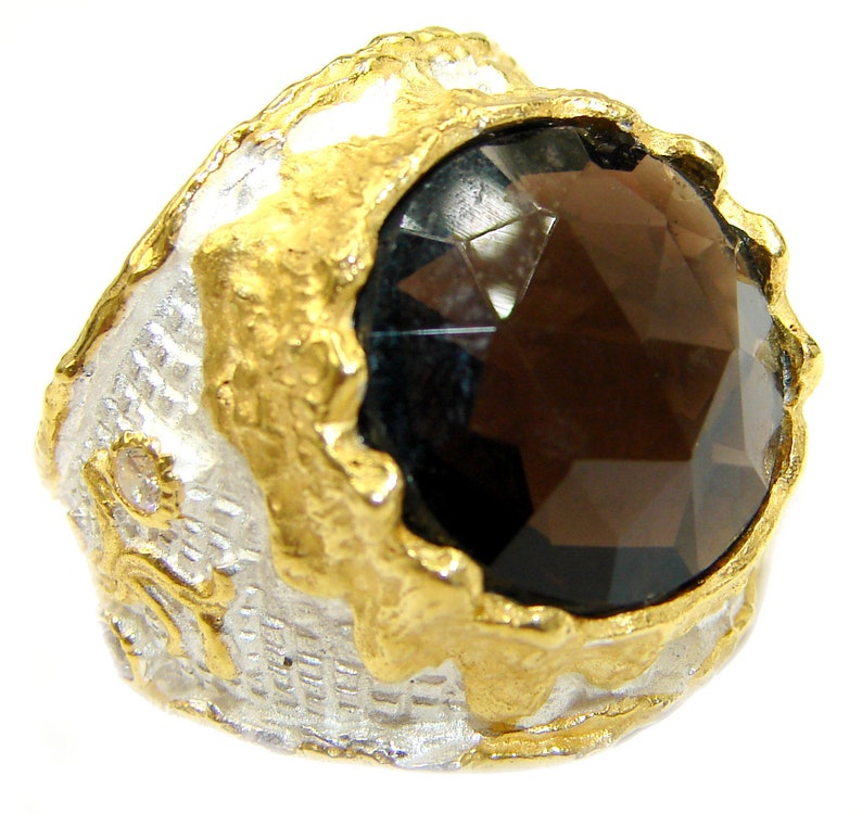 W dim L- 7 8 T- 3 8 inch code 29-mar-19-15 3 4 Champagne Topaz Sterling Silver Ring weight 16.80g Size 7