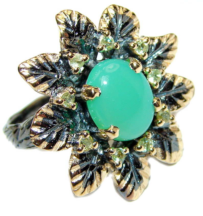 Size 8 Peridot Sterling Silver Ring 7 8 W Chrysoprase T 1 code 19-lis-20-27 dim L 3 16 inch weight 7.80g