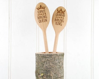 Personalised King/ Queen Mixing Spoon - Birthday Gift - Baking Tool  - Personalised Spoon - Personalised Baking - Gift For Her