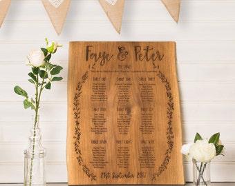 Rustic Wedding Table Plan   Oak Table Plan   Country Wedding   Grecian Wedding   Wooden Table Plan   Woodland Wedding   Seating Plan