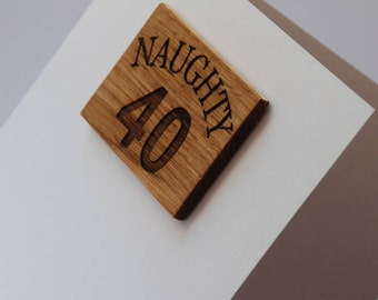 40th Birthday Magnet Card