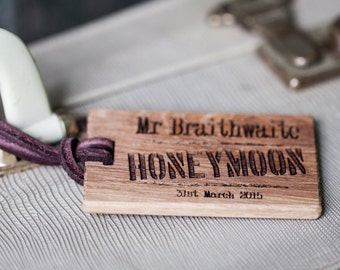 Honeymoon Luggage Tags - Personalised Luggage Tag - Mr and Mrs Luggage Tag - Honeymoon Gift - Wedding Gift - Travel Gift - Travel Accessory