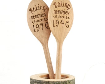 Personalised Baking Wooden Spoon -Birthday Gift - Baking Tool - 18th Birthday Gift - Personalised Spoon - Personalised Baking - Gift For Her