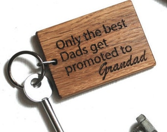 Best Dads Keyring - Father's Day - Dad Gift - Gifts For Dad - Grandad Gifts - Gift for Grandad - Gift for Him - Grandpa Gift - Dads Gift
