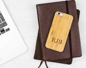 iPhone 6 Case | Boyfriend Gift | Boyfriend Phone Case | Wooden Phone Case | Monogrammed Phone Case | Personalised Phone Case | Gift for Him