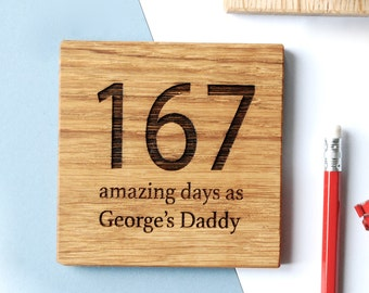 Personalised Days As Your Coaster - New Dad Gift - Dad's Coaster - Grandad's Gift - Gift for Him - Thoughtful Gift - Father's Gift