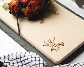 BBQ Gift - BBQ Party - BBQ Lover Gift - Tray - Platter Board - Gift for Boyfriend - Gift for Him - Gift for Dad - Garden Gift - Father's Day