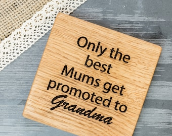 Personalised Mums Oak Coaster - Personalised Mum Gift - Mothers Day Gift - Gifts For Mum - Nanny Gift - Personalised Coaster - Coaster