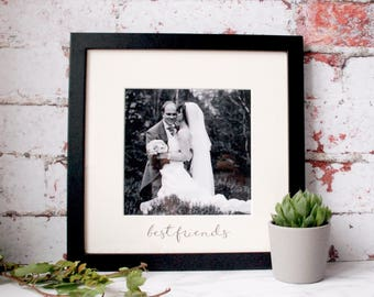 Wedding Anniversary - Valentines Gift - Black & White - Picture Frame - Handwritten - Calligraphy - Handlettering -Personalised Frame