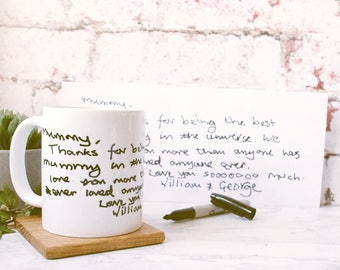 Childrens Handwriting Mug - Personalised Mug - Mother's Day Mug - Gift for Mum - Gift for Grandparents - Gift for Dad
