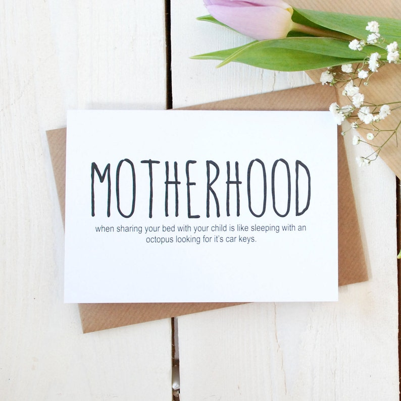 Motherhood Card Mother S Day Card Baby Shower Card Etsy