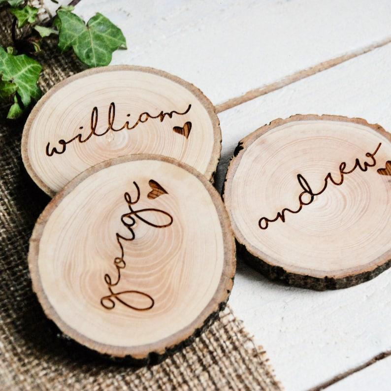 Namensschilder Holz