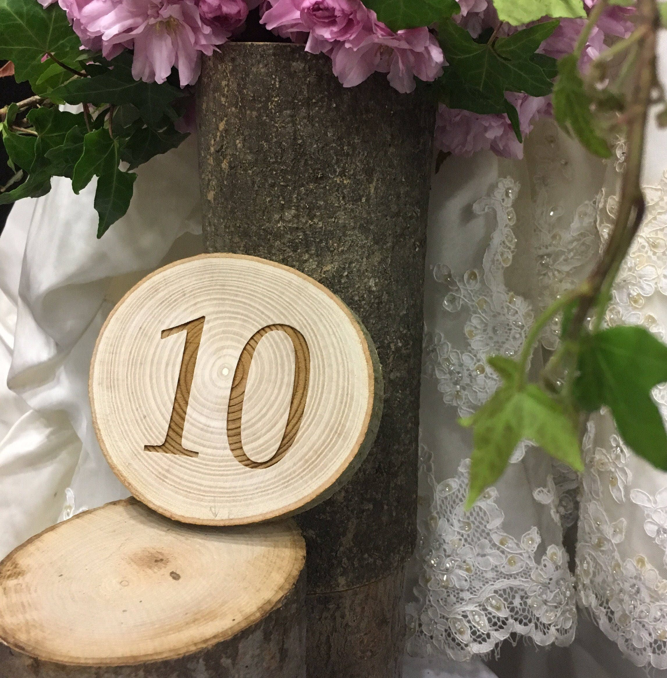 Rustic Round Table Number Wedding Table Numbers Rustic Wedding