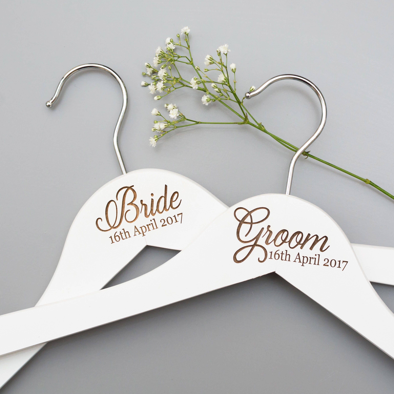 Wedding Day Hangers Bridal Hangers Bridesmaid Gift