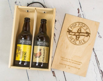 Real Ale Gift Box - Boyfriend Gift - Best Man Gift - Beer Lovers Gift - Gift for dad - Gift for Him - Father's Day Gift - Groomsman Gift