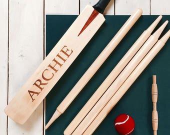 PERSONALISED Junior Size 3 Cricket Set - Children's Cricket Set -
