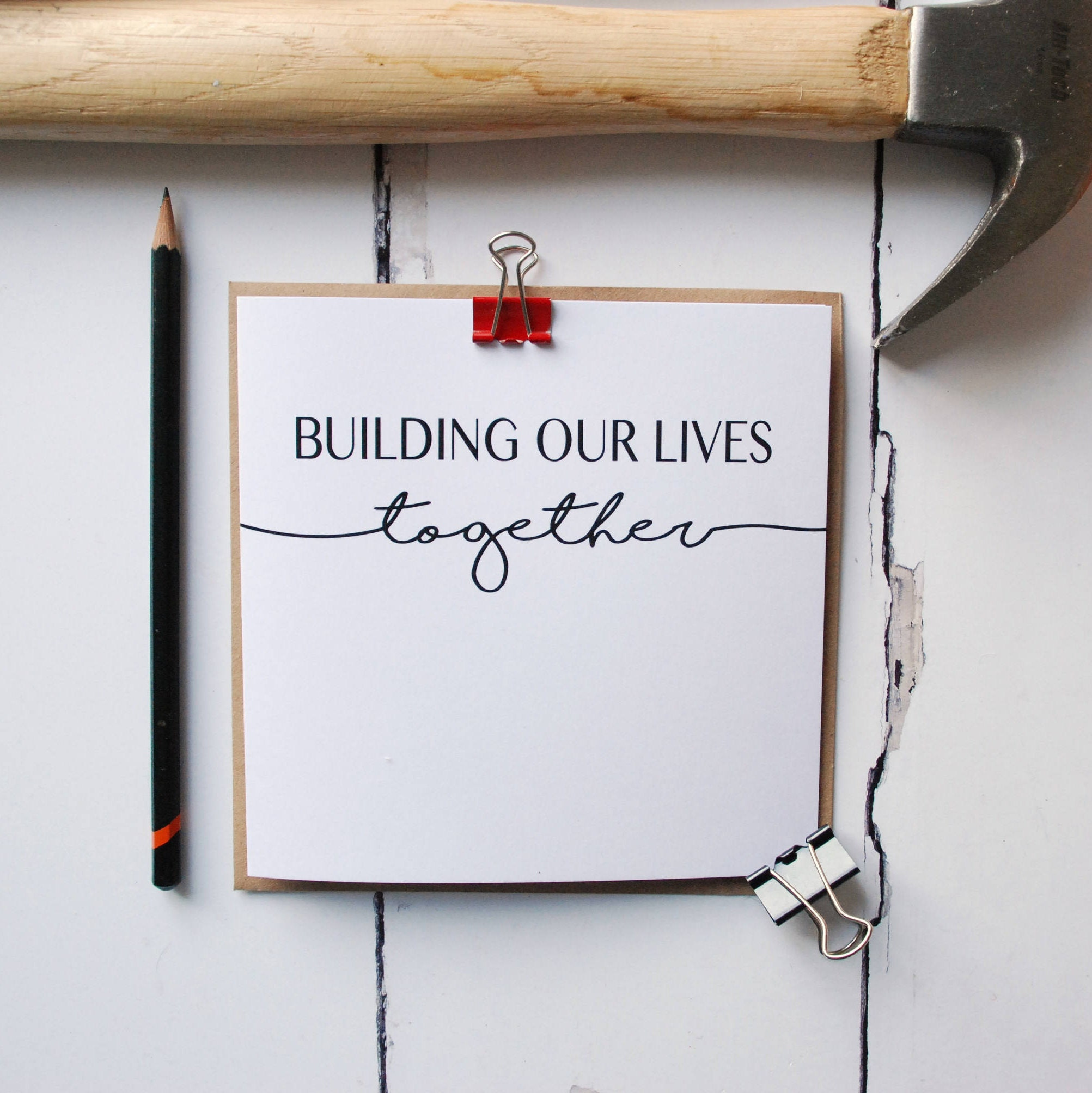 Building Our Lives Together Greetings Card Anniversary Card