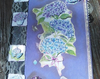 Junk Journal/Journal/Book notes/Purple/vintage